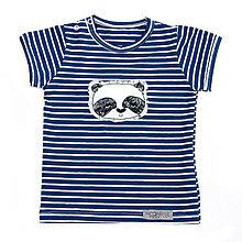 Detské oblečenie - BIO pííískacie tričko Panda modrá - 9713589_