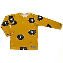 Detské oblečenie - BIO tričko Little animal horčicové dlhý rukáv - 9713657_