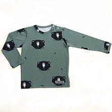 Detské oblečenie - BIO tričko Little animal zelené dlhý rukáv - 9713683_