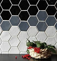 Dekorácie - Keramické obkladačky šesťuholníky - 9714930_