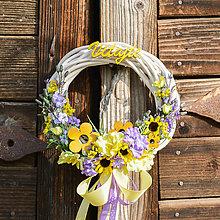 Dekorácie - Venček na dvere Vitajte - 9713254_