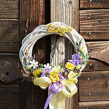Dekorácie - Venček na dvere Vitajte - 9713264_