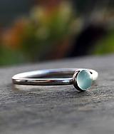 Prstene - Strieborný s chalcedónom - 9715177_