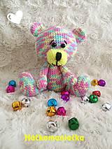 Hračky - Háčkovaný macko Boo - 9716861_