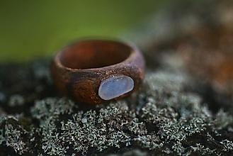 Prstene - Prsteň s modrým achátom - 9716518_