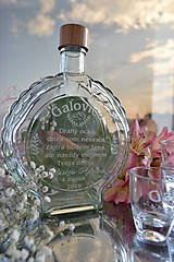Nádoby - Poďakovanie-set flaša v saténe - 9716702_