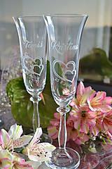Sklo-čaše svadobné