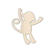 Polotovary - Opička - drevený výrez - 9716823_