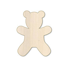 Polotovary - Macko - drevený výrez - 9716829_