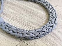 Náhrdelníky - Pletený náhrdelník - 9714276_