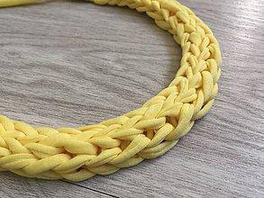 Náhrdelníky - Pletený náhrdelník - 9714166_