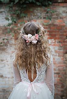 Ozdoby do vlasov - Kvetinový boho hrebienok