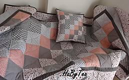 Úžitkový textil - Sivá patchworková súprava - 9716473_