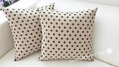 Úžitkový textil - Bodka k bodke - VANKUŠE /obliečka, režné plátno - 9714559_