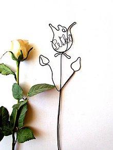 Dekorácie - Ruža pre... (Béžová) - 9716229_