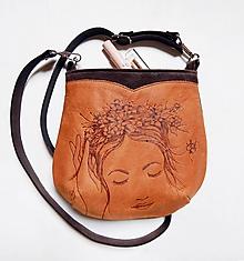 "Kabelky - ALA ""Dreaming"" malá kabelka s vypaľovaným obrázkom - 9715529_"