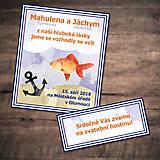 Papiernictvo - Morské svadobné oznámenie - ryba - 9716348_