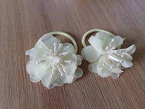 Ozdoby do vlasov - Kvetinové gumky do vlasov Megan - 9718966_