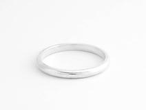 925 Strieborný prsteň obrúčka Simply