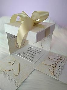 Papiernictvo - Svadobná krabička na peniaze (4 kapsičky) - 9719423_