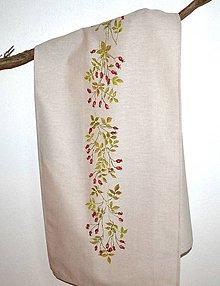 Úžitkový textil - Obrus na stôl-štóla-ručne maľovaná - 9719382_