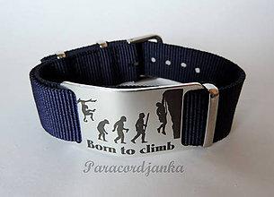Šperky - Born to climb - náramok - 9717959_