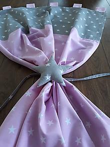 Úžitkový textil - Závesy šedo-ružové - 9717965_