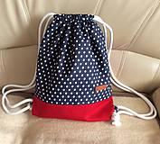 Batohy - riflový batoh (bodky s červenou) - 9719271_