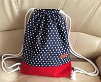 Batohy - riflový batoh (bodky s červenou) - 9719283_