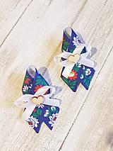 Pierka - folklórne pierko modré pre rodičov, svedkov - 9719615_