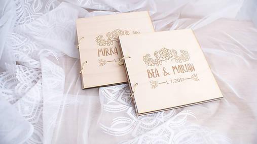 6726dde4e476 Drevená svadobná kniha hostí (25 listov 300g matný (na lepenie fotiek))