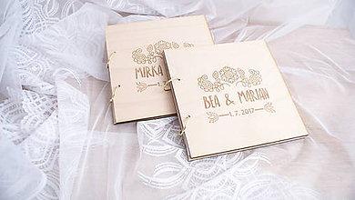 Papiernictvo - Drevená svadobná kniha hostí - 9719338_