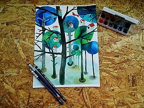 Obrazy - v lese - 9718011_
