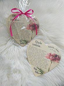 Darčeky pre svadobčanov - Magnetka ako poďakovanie pre rodičov - 9717316_