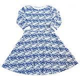 Šaty - Dámske šaty - Blue Folk Ornament - 9717907_