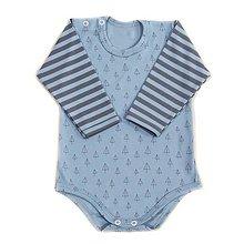 Detské oblečenie - BIO detské body - blue TIPI - 9718118_