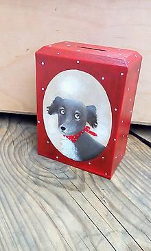 Krabičky - Pokladnička so psíkom - 9718098_