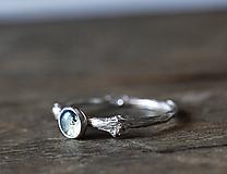 Prstene - Vetvičkový s machovým achátom - 9718962_