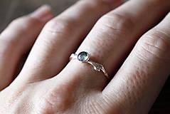 Prstene - Vetvičkový s machovým achátom - 9718970_