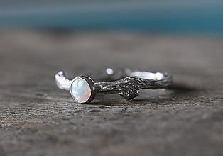Prstene - Vetvičkový s opálom... - 9719532_