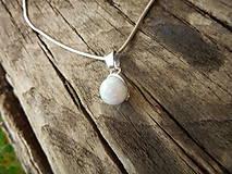 Iné šperky - Opálikový biely - 9717166_