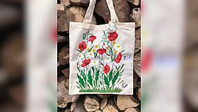 Iné tašky - ♥ Plátená, ručne maľovaná taška ♥ - 9717828_