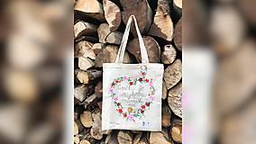 Nákupné tašky - ♥ Plátená, ručne maľovaná taška ♥ (MI21) - 9717838_