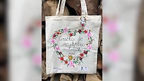 Nákupné tašky - ♥ Plátená, ručne maľovaná taška ♥ (MI21) - 9717839_