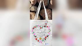 Nákupné tašky - ♥ Plátená, ručne maľovaná taška ♥ (MI21) - 9719679_