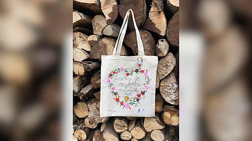 ♥ Plátená, ručne maľovaná taška ♥ (MI21)