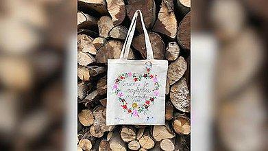 Nákupné tašky - ♥ Plátená, ručne maľovaná taška ♥ (MI21) - 9717837_