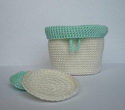 Úžitkový textil - Kozmetické tampóny - sada  (Tyrkysová) - 9720286_
