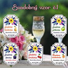 Darčeky pre svadobčanov - Svadobná pálenka vzor 1 - 9718888_
