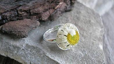 Prstene - Živicový prsteň s kvietkami (so sedmokráskou č. 2299) - 9719964_